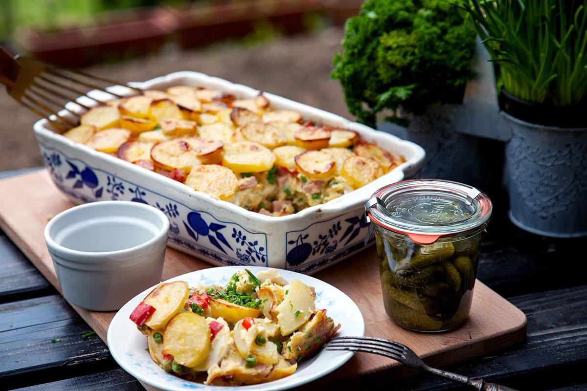 Řemeslnické zapečené brambory