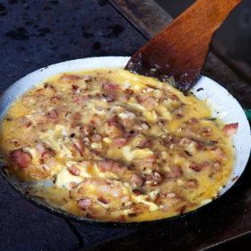 Míchaná vejce se slaninou