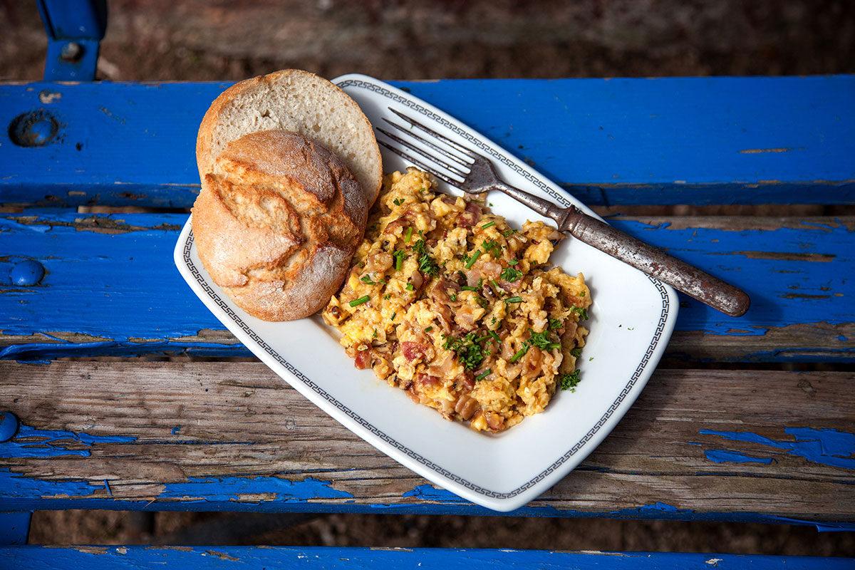 Recept - míchaná vajíčka